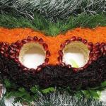новогодний салат маска