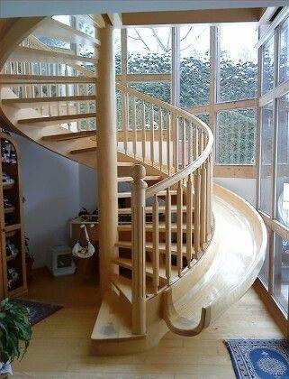 спиральная лестница горка