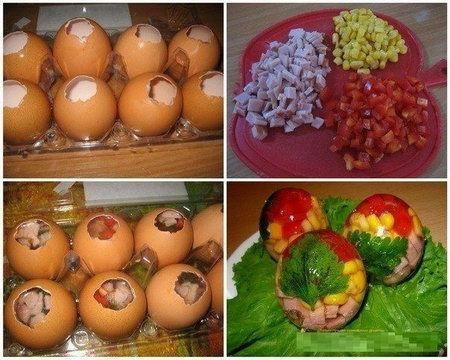 заливыне яйца