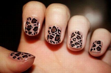 дизайн ногтей след гепарда