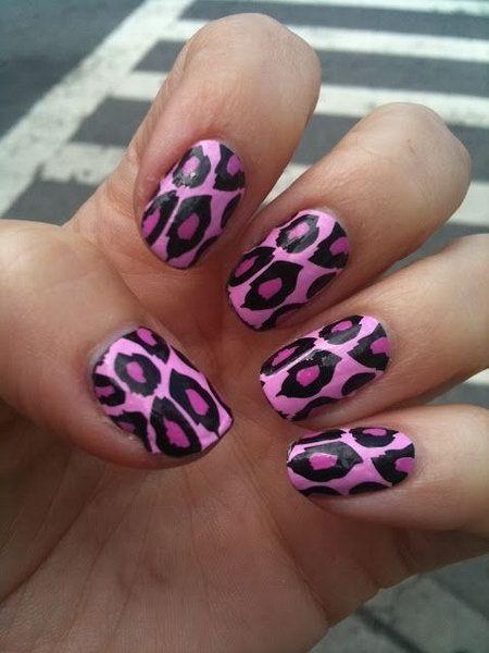 гепард рисунок на ногтях 2014