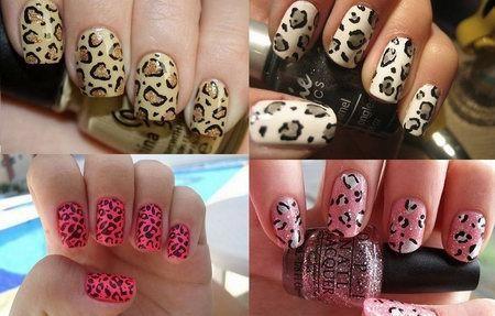 леопардовый принт на ногтях хищницы