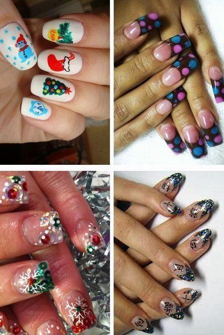 рисунки на ногтях новый год