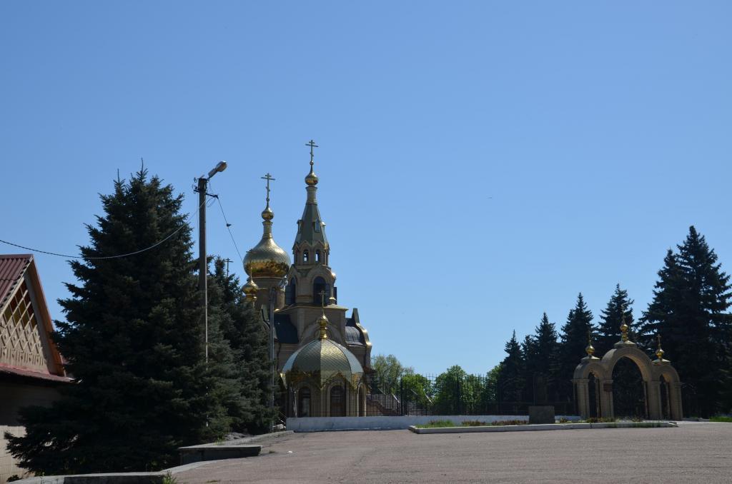 Храм Марьинки Донецкой области
