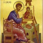 Лука создает первую икону Божьей Матери