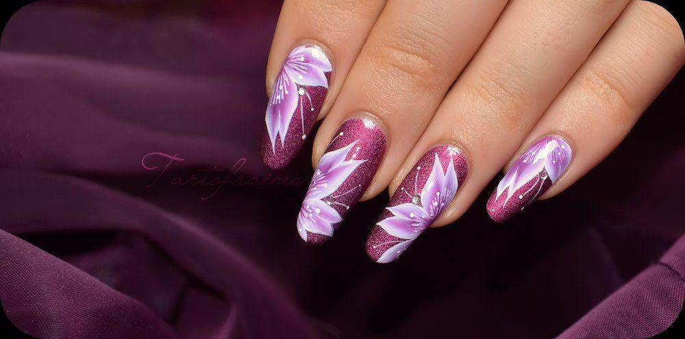 цветы-на ногтях