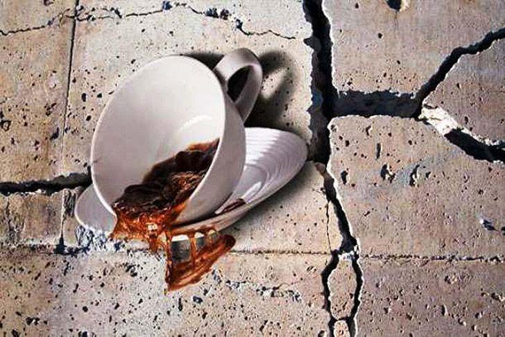 ресторан землетрясение