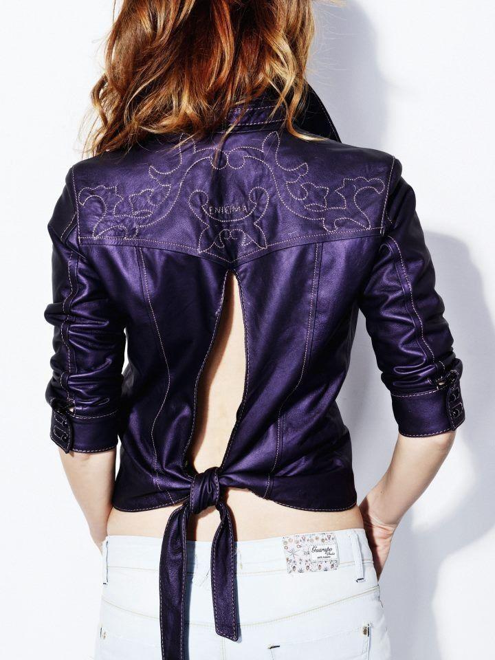 кожааня куртка
