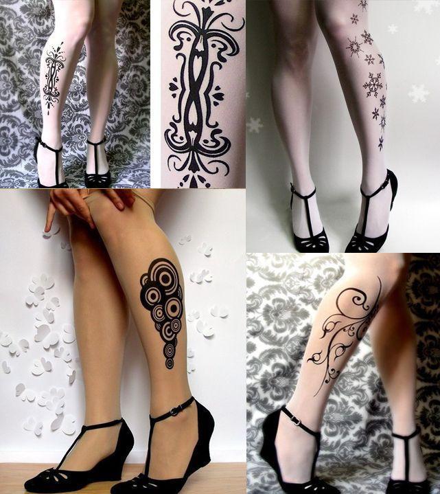 колготки с татуировками