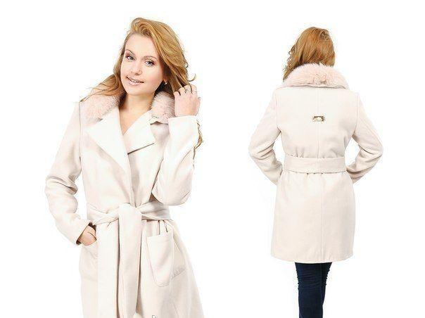 пальто зима красивое беж