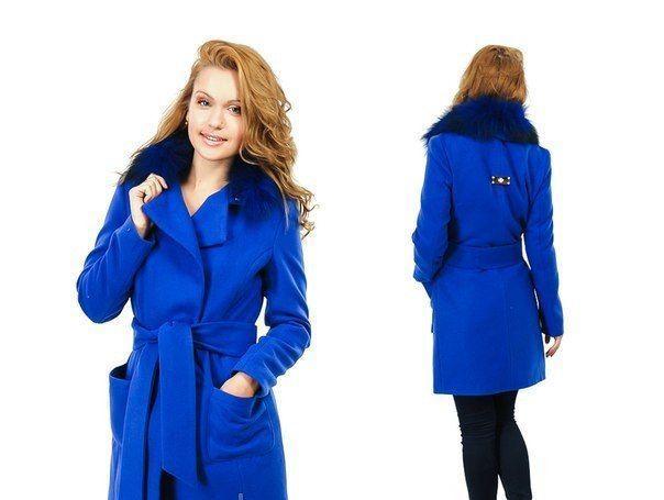 пальто зима красивое синее