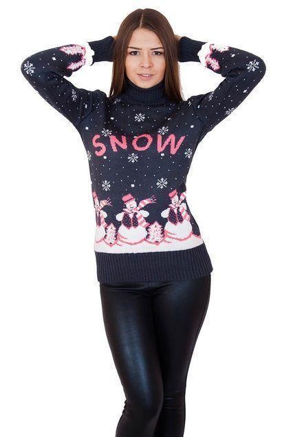 свитер снеговик