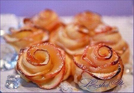 Десерт запеченные яблоки с тестом