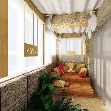 восточный стиль балкона