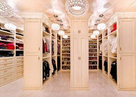 богатая гардеробная