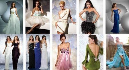 выпускные модные платья 2015