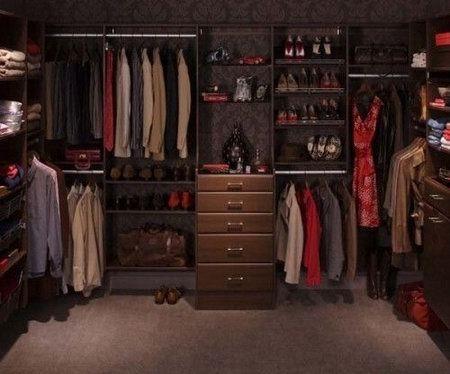 интерьер гардероб