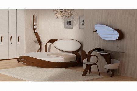 оригинальная круглая кровать