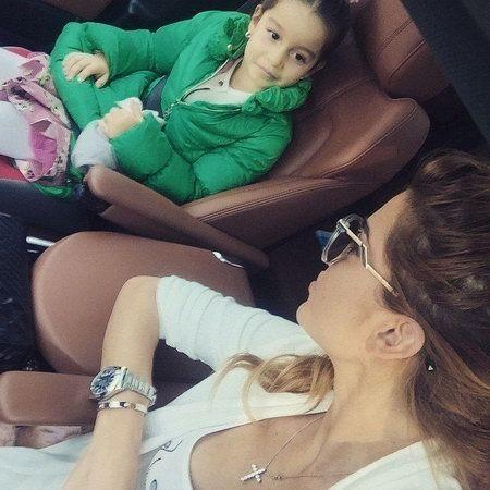бородина с дочкой