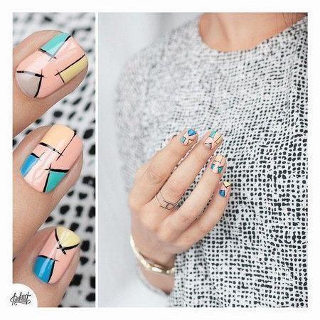 абстракция ногти