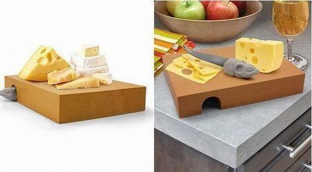 доска с отверстием для хранения ножей