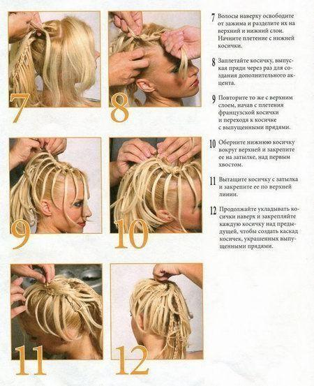 Плетение косичек на своих волосах видео для