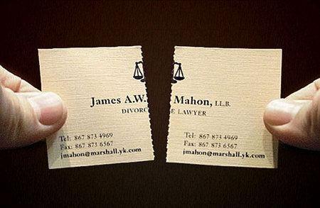 визитка развода