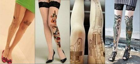татуировка колготки