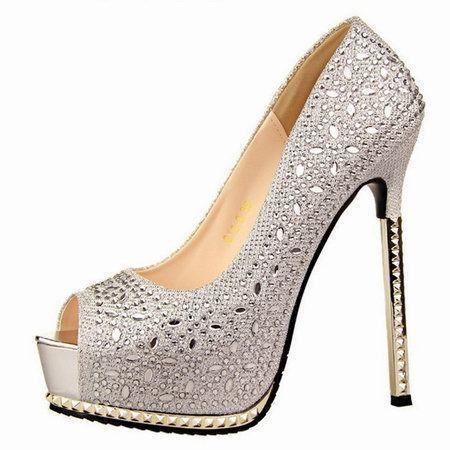 13-5-CM-Heel-Hight-Peep-Toe-High-Platform-Heels-Ladies-Diamond-font-b-Sparkly-b