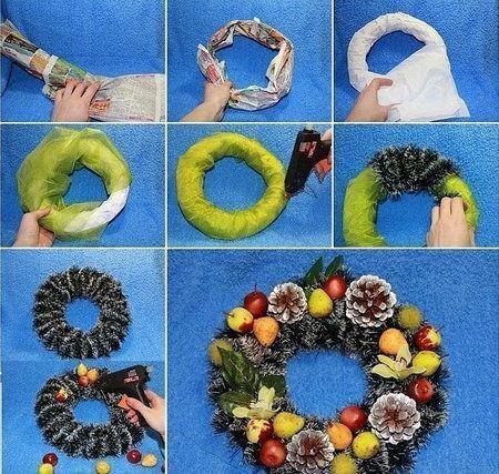 Новогодние еловые ветки своими руками