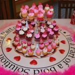 mini cupcakes hearts valentine's tower 2