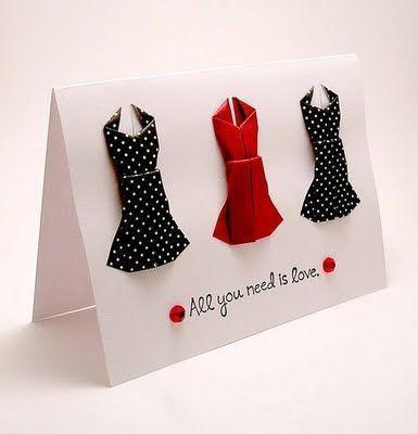 Платья из бумаги маме