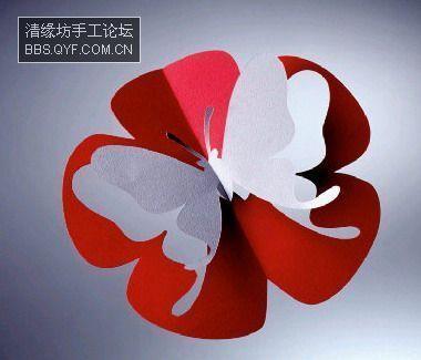 Новогодние бабочки из бумаги