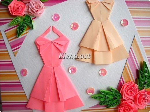 Платье из оригами своими руками фото
