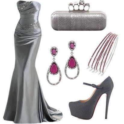 grey-evening-dress-combination