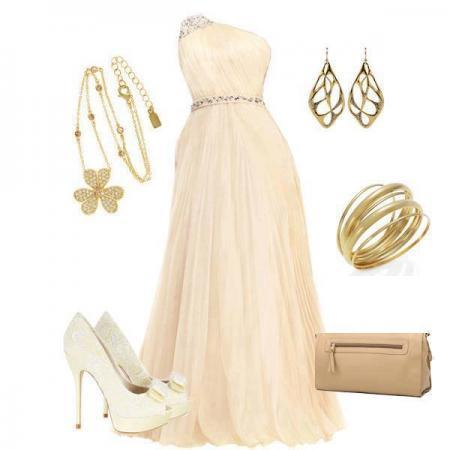 one-shoulder-evening-dress-combination