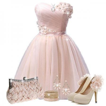 pure-pink-evening-dress-combination