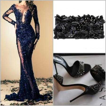 stunning-lace-evening-dress-combination
