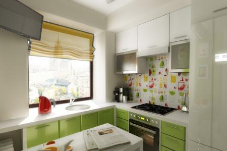 шторы для кухни в хрущевке