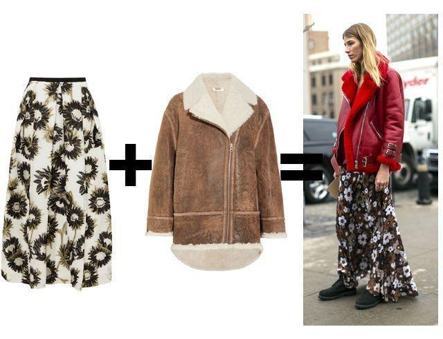 Зимняя юбка с верхней одеждой: как стильно сочетать юбку с курткой