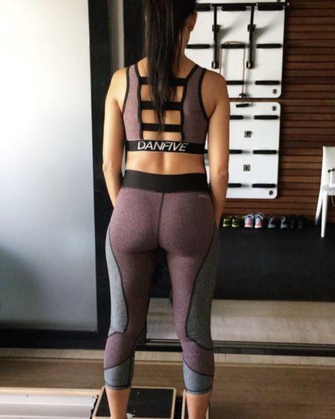 Беременная Хлои Кардашьян тренируется до потери пульса