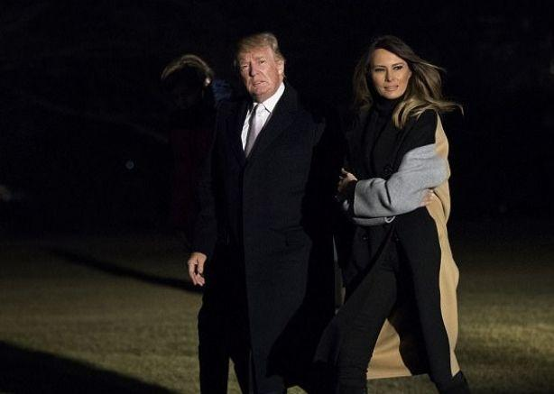 Мелания Трамп отреагировала на приезд супруга в Белый дом или чем закончился скандал с изменами Дональда Трампа