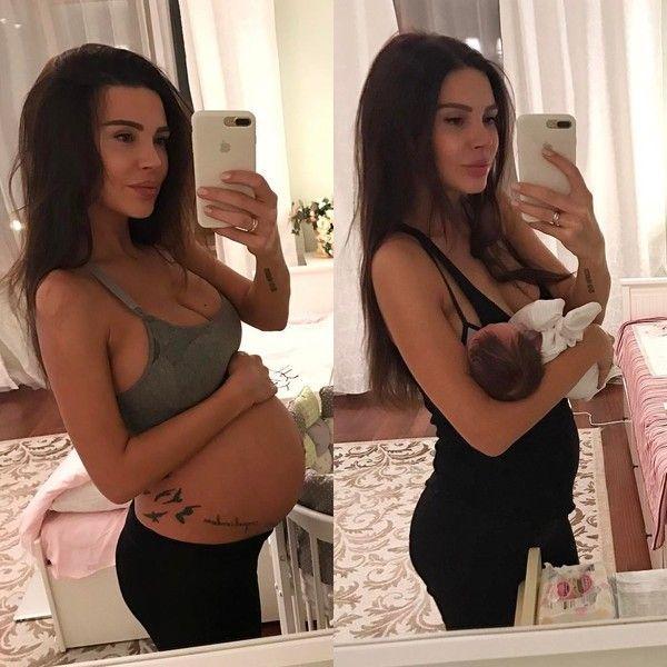 Курникова спустя месяц после родов похвасталась стройной фигурой