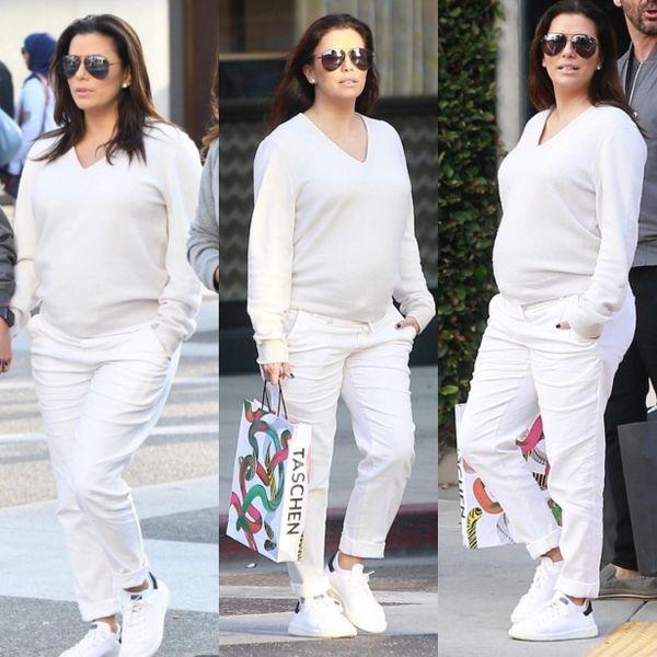 В Сети появились новые фото беременной Евы Лонгории на шопинге с мужем