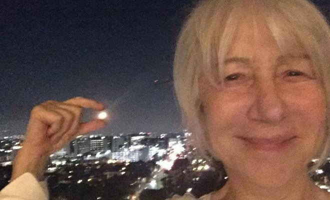 Моя бабушка выглядит так же: 72-летняя Хелен Миррен без макияжа