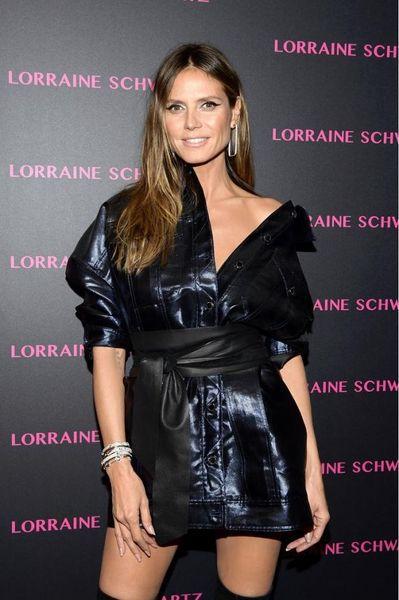 Вот это лайфхак: Хайди Клум сделала вечерний наряд из кожаной куртки (ФОТО+ГОЛОСОВАНИЕ)