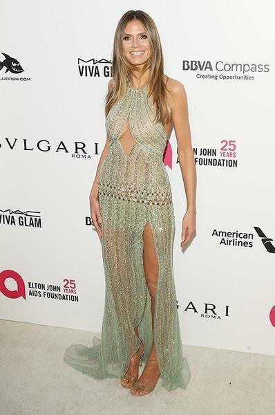 Хайди Клум выбрала откровенный наряд для вечеринки в честь Оскара