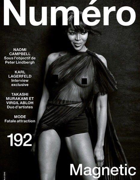Наоми Кэмпбелл снялась обнаженной для обложки журнала