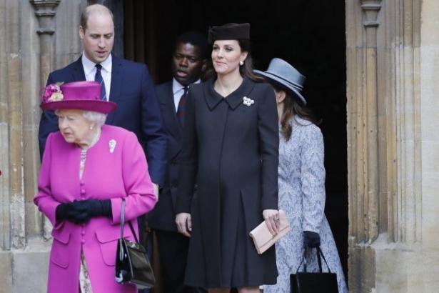 Элегантная Кейт Миддлтон накануне родов посетила Пасхальную службу (ФОТО)