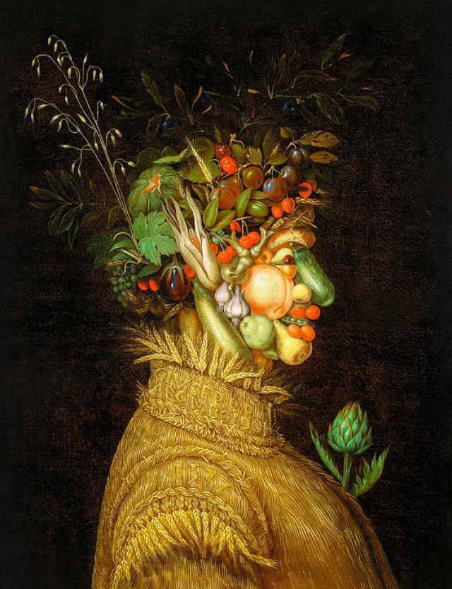 Художник делает оммажи из продуктов по мотивам картин Арчимбольдо (ФОТО)